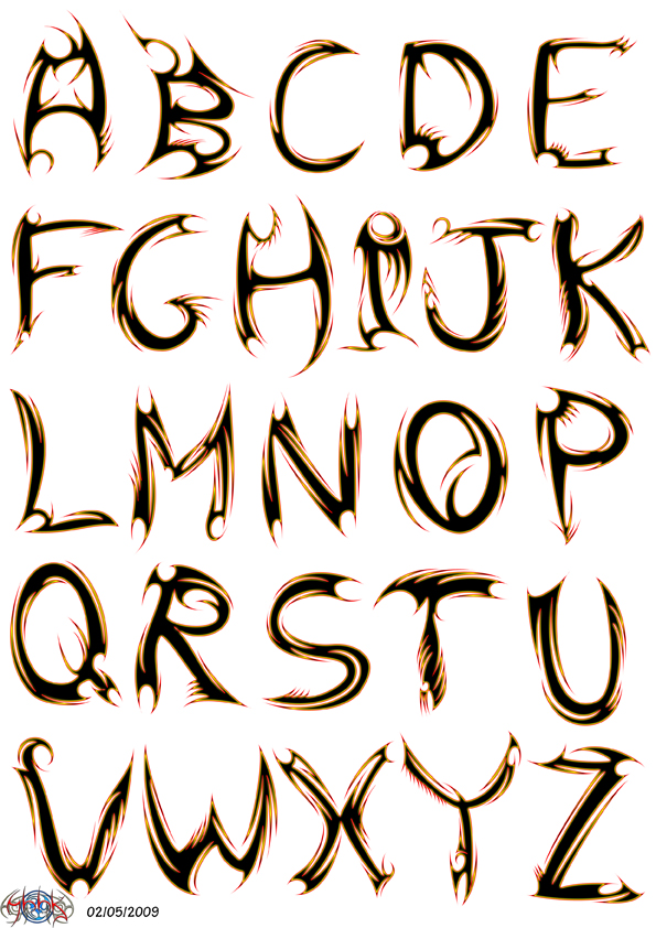 tribal letters images