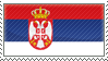 Serbian flag stamp by komoras