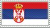 Serbian flag stamp by komoras