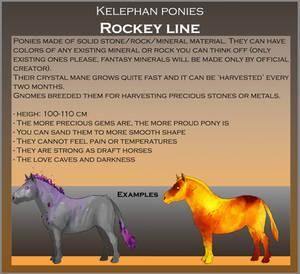 Kelephan ponies breeds - Rockey by WoC-Brissinge