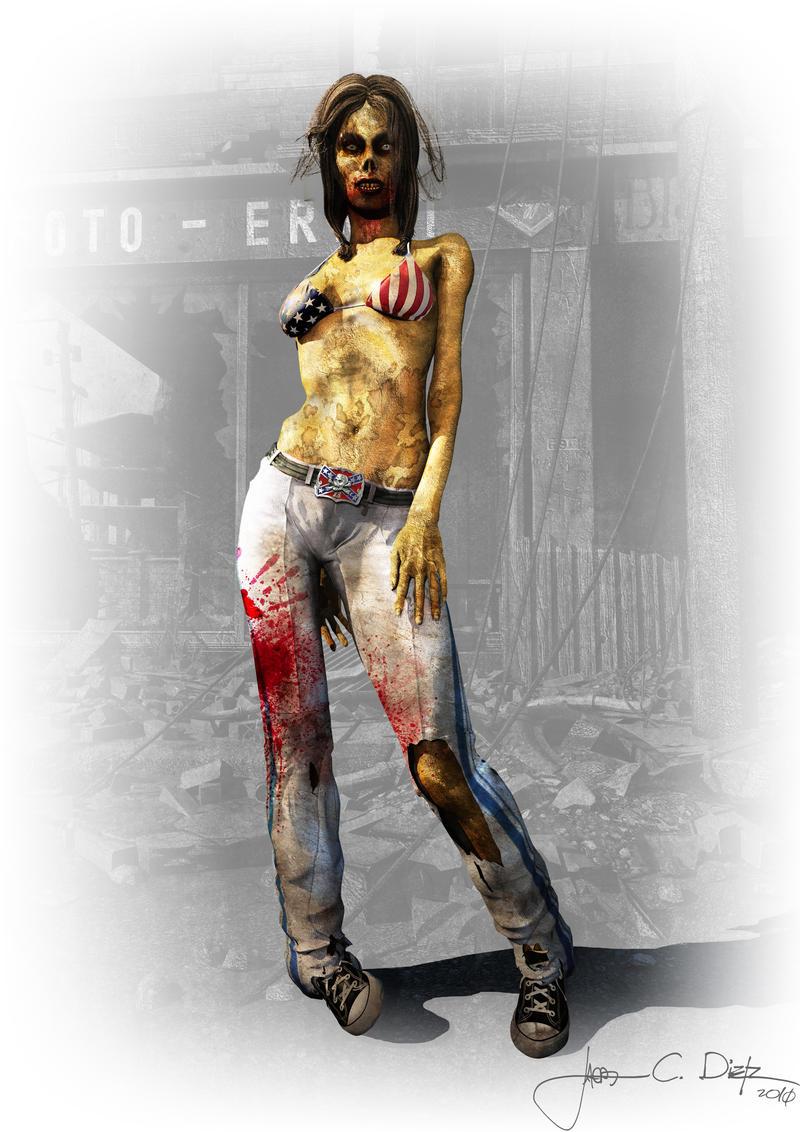 Malibu Zombie by JacobCharlesDietz