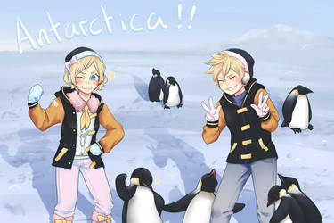 Kagamine Rin and Len in Antarctica by syo-time
