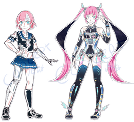 Aiko - Ai-kon Mascot Concepts by syo-time