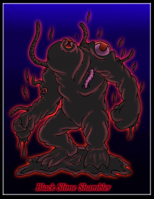 Black Slime Shambler by DanH-Art