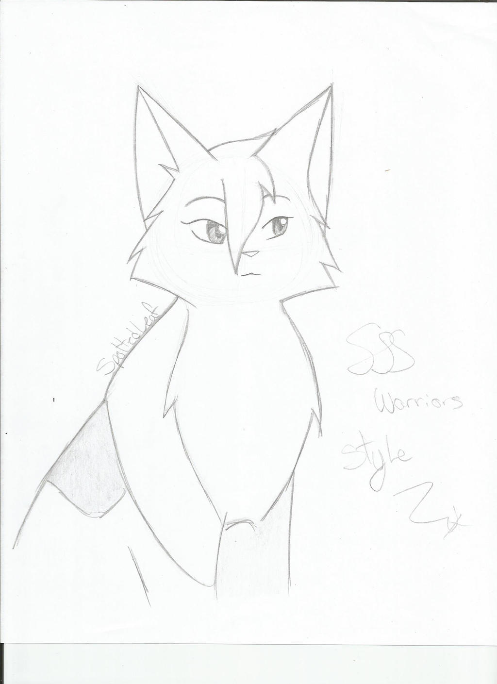 warrior cats coloring pages spottedleaf - photo#2