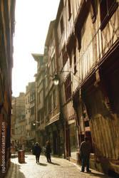 An Old Street in Rouen by RaphooN