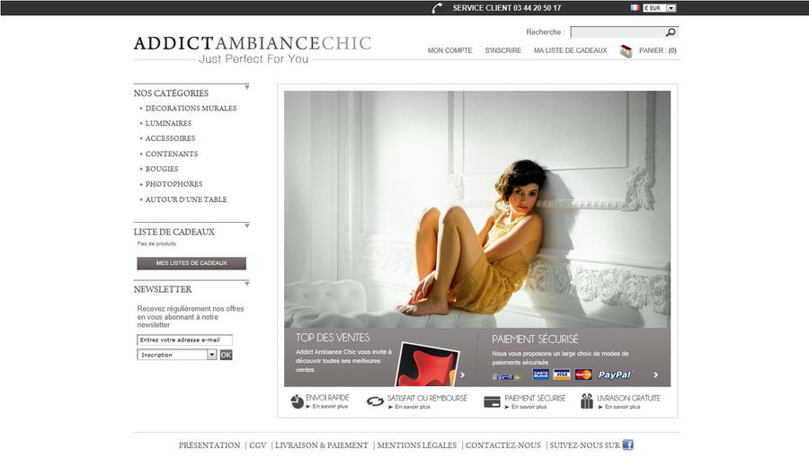 boutique en ligne addict ambiance chic by keacrea on deviantart. Black Bedroom Furniture Sets. Home Design Ideas