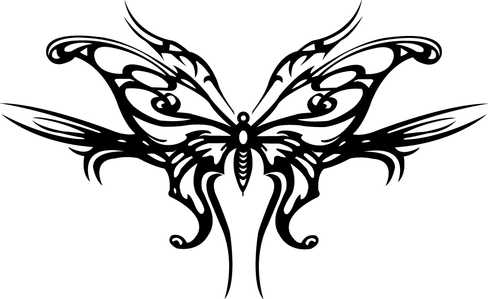 how to draw a tribal butterfly