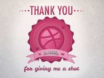 First Shot - Dribbble - Vector Graphic