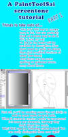 Paint Tool Sai Screentone Tutorial part 1