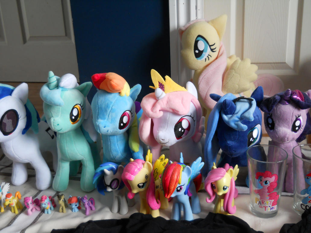 part of my plushies and figurine of mlp by poupouch1234567890