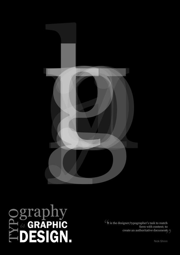 Typography is Graphic Design by andyrogerson