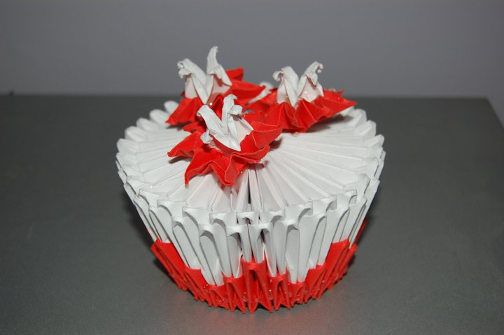 3d Origami Cupcake By Origami Sharon On Deviantart