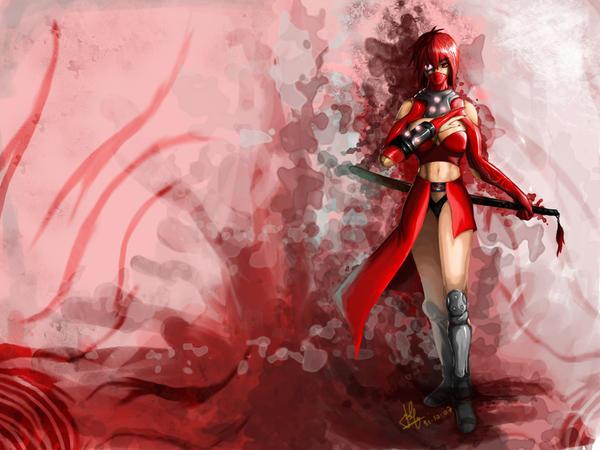 Red Ninja wallpaper by Joshimaru on DeviantArt
