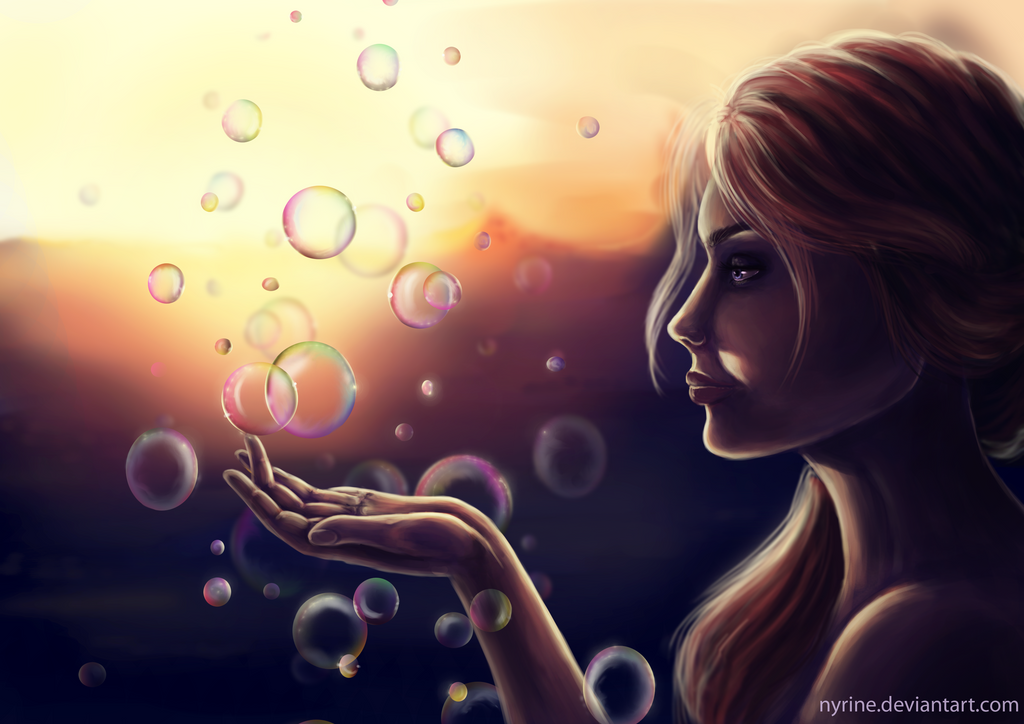 Sunset With The Bubbles by Nyrine