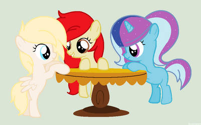 [Gift] Three Ponies in filly