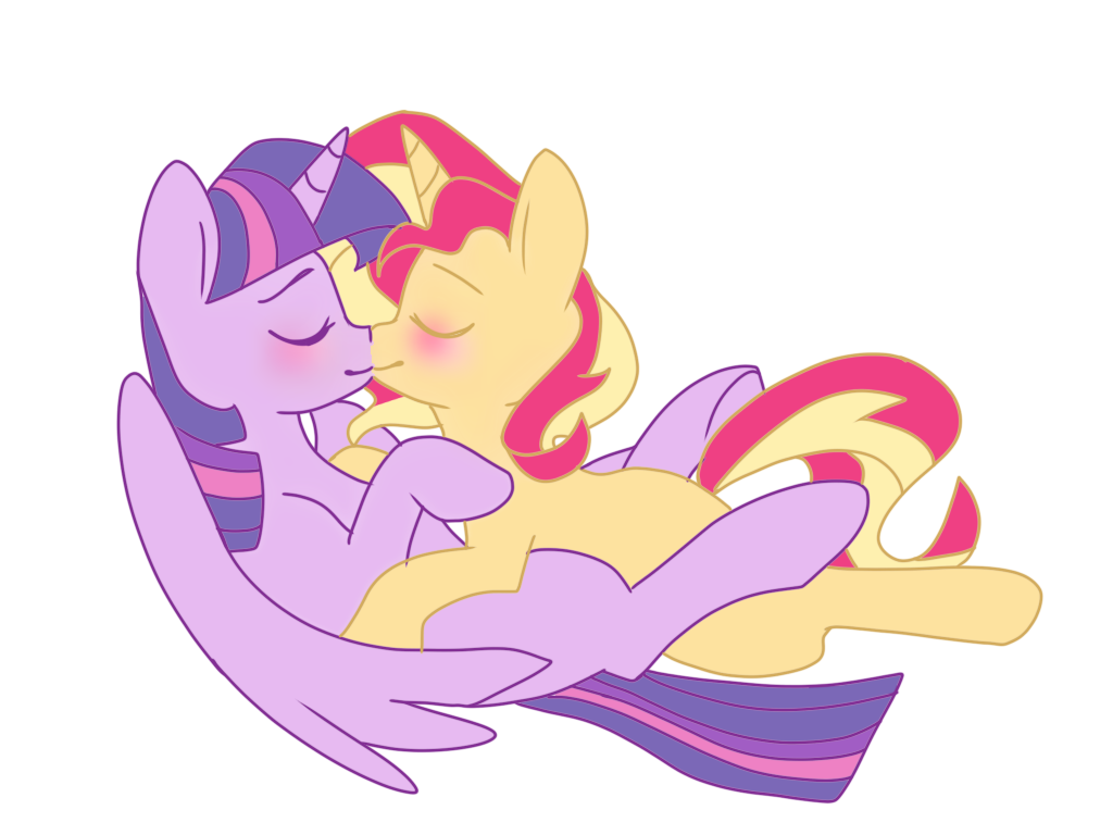6eea6fbb Twilight sparkle x sunset shimmer - I love you by MissHoneyPot on ...