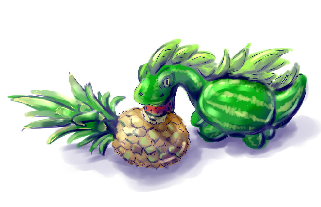 Fruit Dragon by Nedemai
