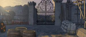 Gilead Weapon Storage gates by Rusty001