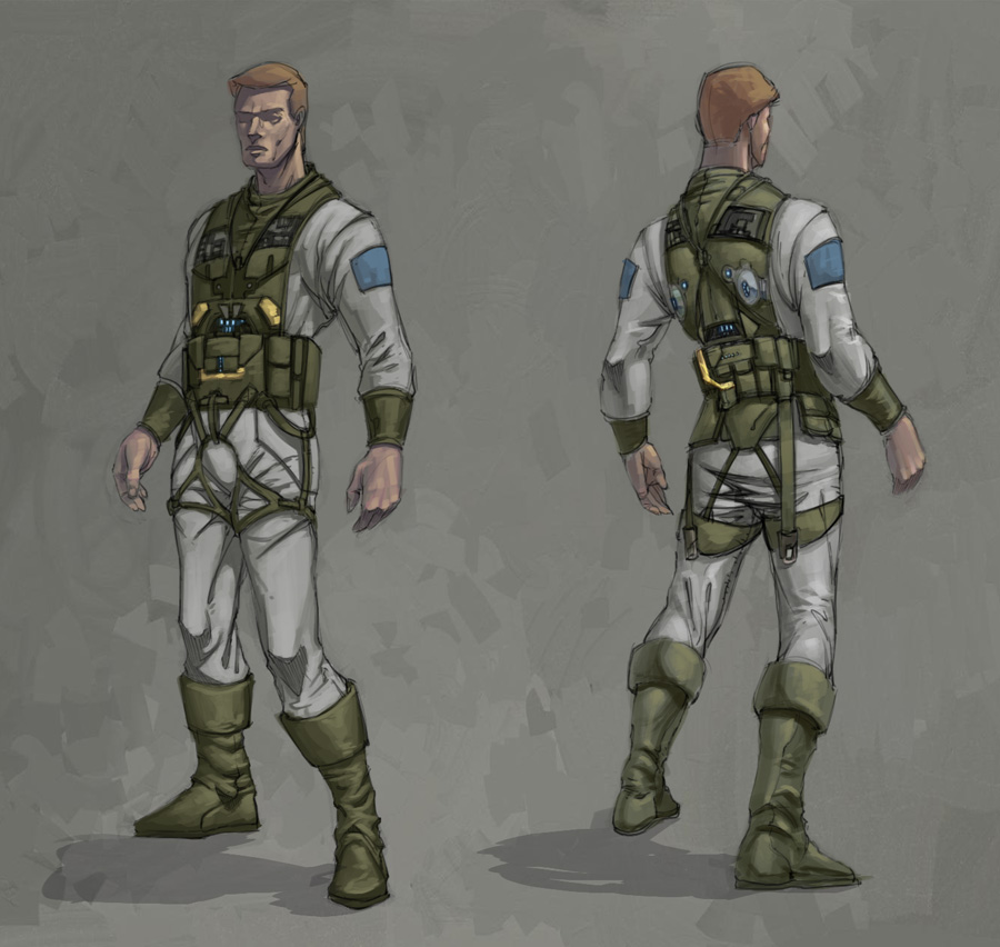 Sci Fi Male Character by Rusty001