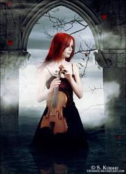 Broken dream of Violin by Kechake