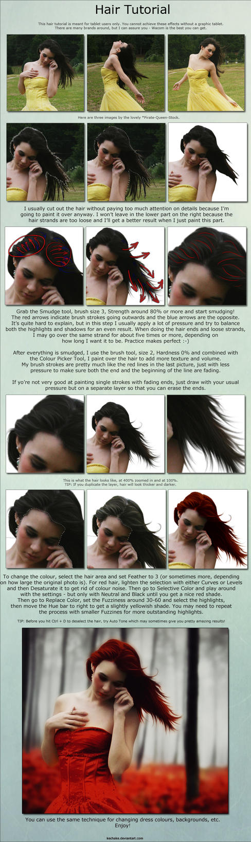 Hair Tutorial by Kechake
