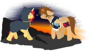 Request: Sunset Shimmer and Sora
