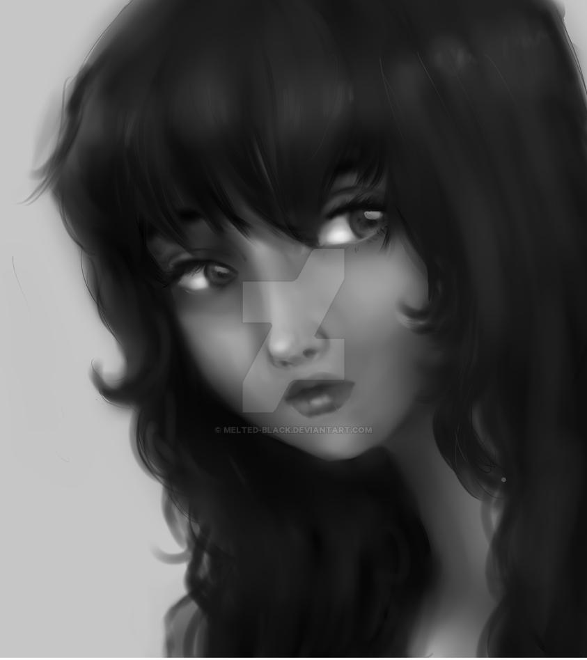 baby come back grayscale by Melted-Black