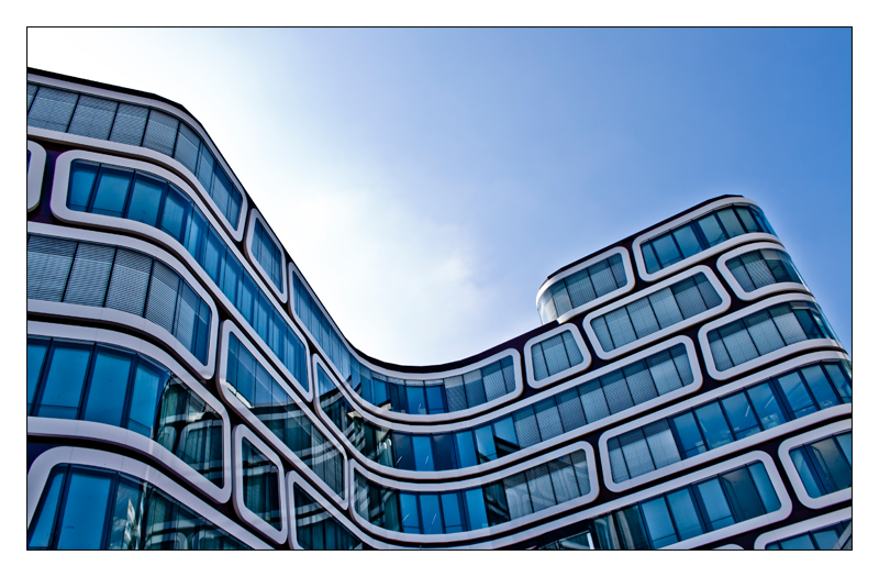 Shining blue building by MarcelHieber