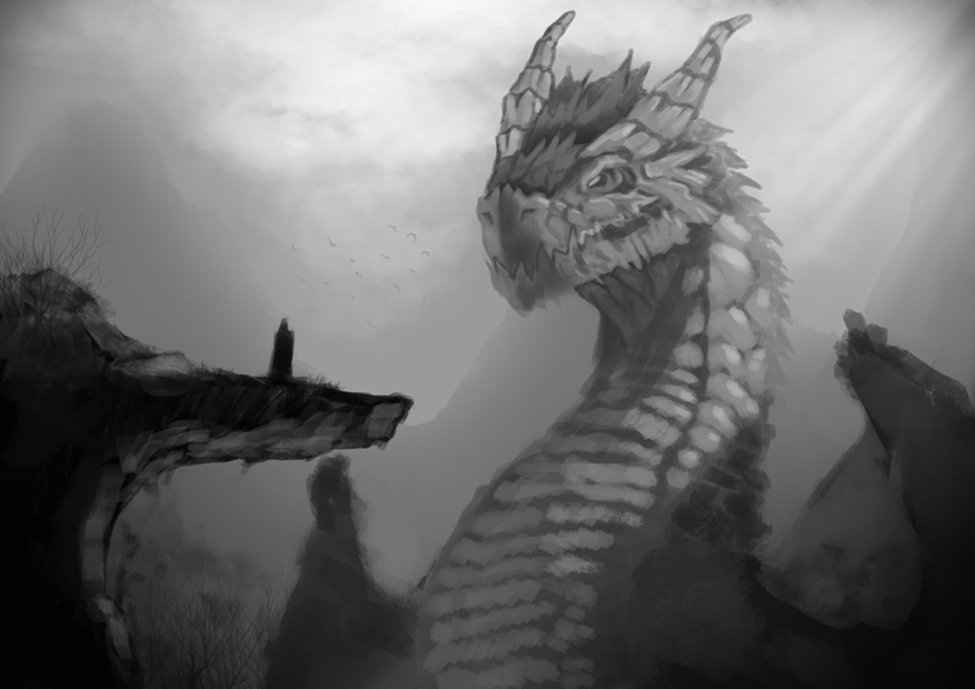 Meeting with dragon by KawaINDEX