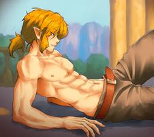 Link Shirtless by KawaINDEX