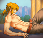 Link Shirtless