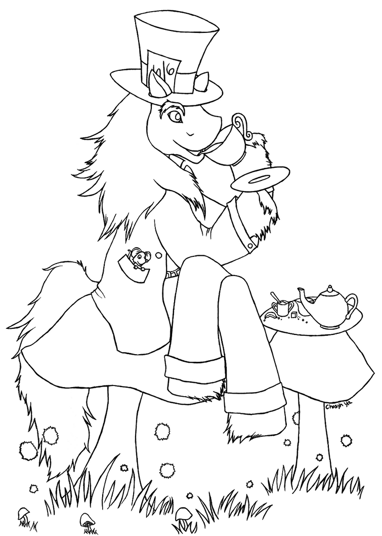 mad hatter coloring pages - photo#28
