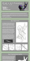 Drak's Render-Style Coloring Process by Drak-Arts