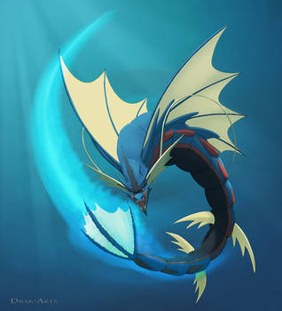 Mega Gyarados - Aqua Tail by Drak-Arts