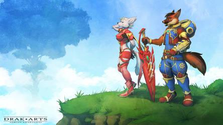 COMM: Phoenix and Alyssa (Xenoblade 2) by Drak-Arts