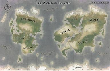 World Map of Isravere by Drak-Arts