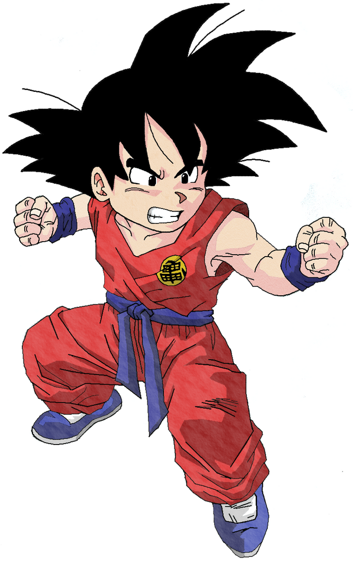 Kid Goku -Dragonball- Colorido by Paulofranq on DeviantArt