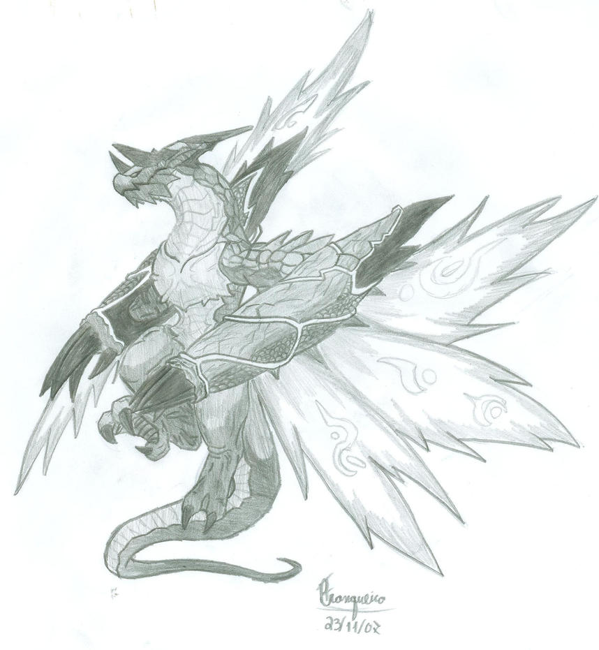 Fire Breathing Dragon Sketch