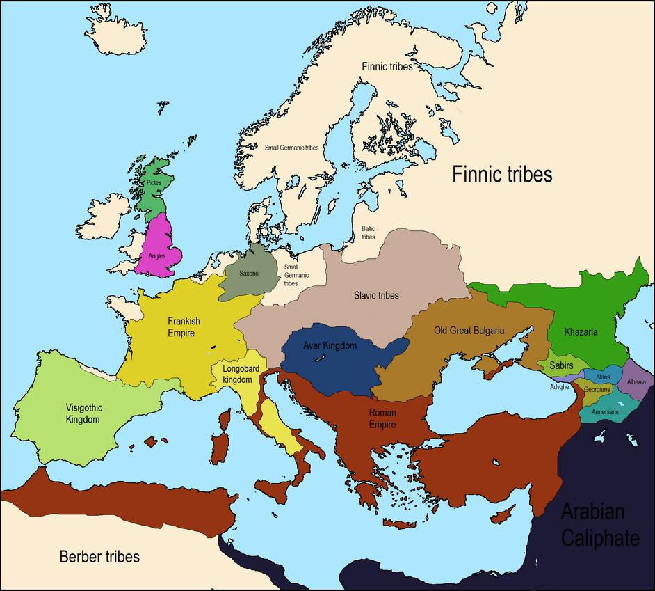 Europe 650 ad map by worldmapper on deviantart europe 650 ad map by worldmapper sciox Images