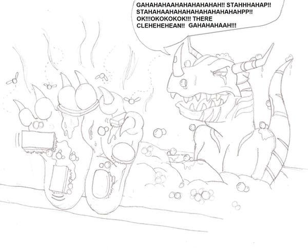 Scrubin' Greymon by zp92
