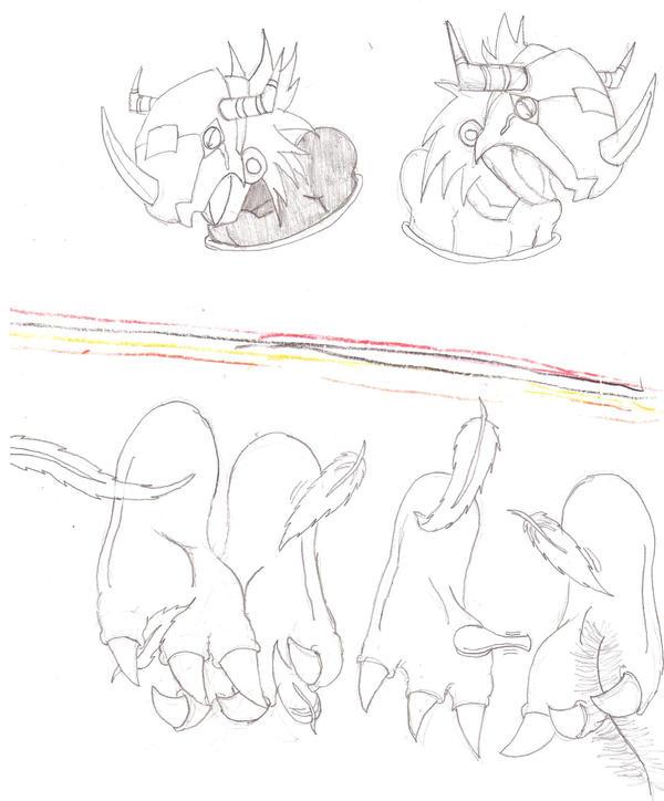 Ticklish Wargreymons by zp92
