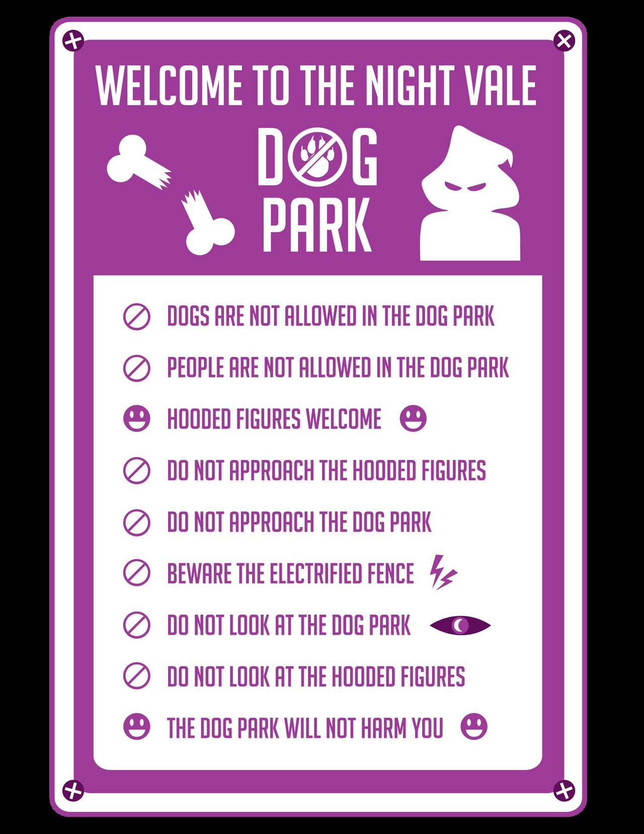 Night Vale Dog Park Rules
