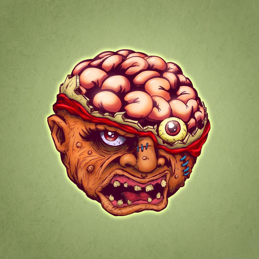 Crack Head / Bash Brain (inks/colors) by T16skyhopp