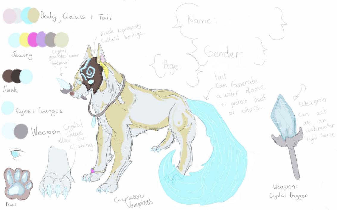 Contest Entry: The lost dog of Atlantis - OC Ref. by CrimsonVampiress