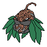 Fakemon Sprite: 'Blooming Pupae Pokemon' by CrimsonVampiress