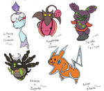 Pokemon Fusion Adopt Sheet 1: OPEN! by CrimsonVampiress