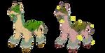 Fakemon Adopt: Ground/Grass Alpaca Evo (Closed) by CrimsonVampiress