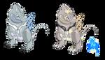 Fakemon Adopt: Ice/Dragon Dimeterdon PreEvo Closed by CrimsonVampiress