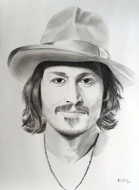 Johnny depp portrait drawing by bertramyeo on deviantart - Dessin johnny depp ...